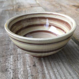 a stripy bowl